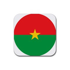 Roundel Of Burkina Faso Air Force Rubber Coaster (square)  by abbeyz71