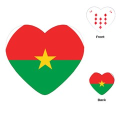 Roundel Of Burkina Faso Air Force Playing Cards (heart)  by abbeyz71