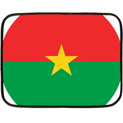 Roundel Of Burkina Faso Air Force Double Sided Fleece Blanket (mini)  by abbeyz71