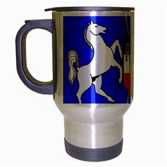 Coat Of Arms Of Upper Volta Travel Mug (silver Gray) by abbeyz71
