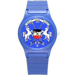 Coat Of Arms Of Upper Volta Round Plastic Sport Watch (s) by abbeyz71