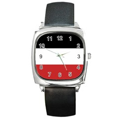 Flag Of Upper Volta Square Metal Watch by abbeyz71