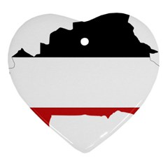 Flag Map Of Upper Volta Heart Ornament (two Sides) by abbeyz71