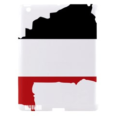 Flag Map Of Upper Volta Apple Ipad 3/4 Hardshell Case (compatible With Smart Cover) by abbeyz71