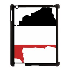 Flag Map Of Upper Volta Apple Ipad 3/4 Case (black) by abbeyz71