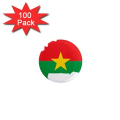 Burkina Faso Flag Map  1  Mini Magnets (100 Pack)  by abbeyz71