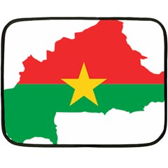 Burkina Faso Flag Map  Fleece Blanket (mini) by abbeyz71