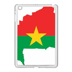Burkina Faso Flag Map  Apple Ipad Mini Case (white) by abbeyz71