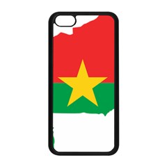 Burkina Faso Flag Map  Apple Iphone 5c Seamless Case (black) by abbeyz71