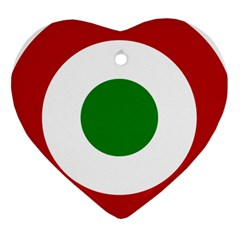 Roundel Of Burundi Air Force  Heart Ornament (two Sides) by abbeyz71