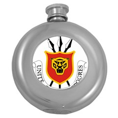 Coat Of Arms Of Burundi Round Hip Flask (5 Oz) by abbeyz71