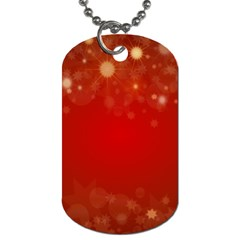 Background Abstract Christmas Dog Tag (one Side) by Simbadda