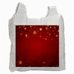 Background Abstract Christmas Recycle Bag (two Side)  by Simbadda