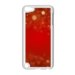 Background Abstract Christmas Apple Ipod Touch 5 Case (white)