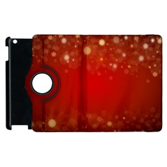 Background Abstract Christmas Apple Ipad 3/4 Flip 360 Case
