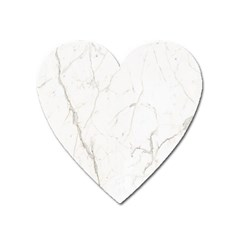 White Marble Tiles Rock Stone Statues Heart Magnet by Simbadda