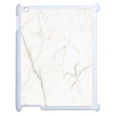 White Marble Tiles Rock Stone Statues Apple Ipad 2 Case (white) by Simbadda