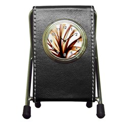 Digital Tree Fractal Digital Art Pen Holder Desk Clocks