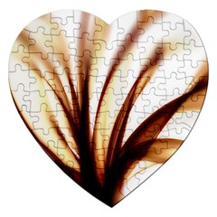 Digital Tree Fractal Digital Art Jigsaw Puzzle (heart) by Simbadda
