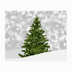 Christmas Xmas Tree Bokeh Small Glasses Cloth by Simbadda