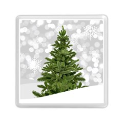 Christmas Xmas Tree Bokeh Memory Card Reader (square)