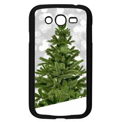 Christmas Xmas Tree Bokeh Samsung Galaxy Grand Duos I9082 Case (black)