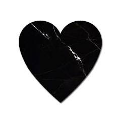 Black Marble Tiles Rock Stone Statues Heart Magnet by Simbadda