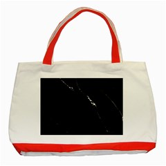 Black Marble Tiles Rock Stone Statues Classic Tote Bag (red)