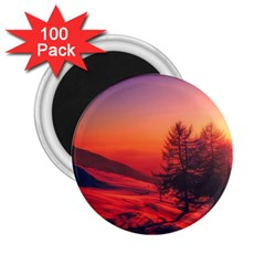Italy Sunrise Sky Clouds Beautiful 2 25  Magnets (100 Pack)  by Simbadda