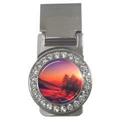 Italy Sunrise Sky Clouds Beautiful Money Clips (cz)  by Simbadda
