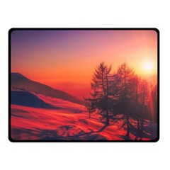 Italy Sunrise Sky Clouds Beautiful Fleece Blanket (small) by Simbadda