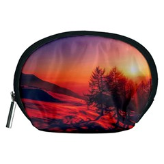 Italy Sunrise Sky Clouds Beautiful Accessory Pouches (medium)