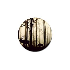 Forest Fog Hirsch Wild Boars Golf Ball Marker (4 Pack) by Simbadda