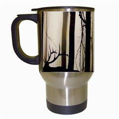 Forest Fog Hirsch Wild Boars Travel Mugs (white) by Simbadda