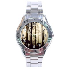 Forest Fog Hirsch Wild Boars Stainless Steel Analogue Watch by Simbadda
