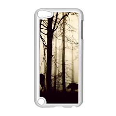 Forest Fog Hirsch Wild Boars Apple Ipod Touch 5 Case (white) by Simbadda