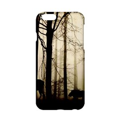 Forest Fog Hirsch Wild Boars Apple Iphone 6/6s Hardshell Case by Simbadda