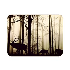 Forest Fog Hirsch Wild Boars Double Sided Flano Blanket (mini)