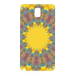 Star Quilt Pattern Squares Samsung Galaxy Note 3 N9005 Hardshell Back Case