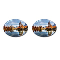 Dolomites Mountains Italy Alpine Cufflinks (oval) by Simbadda