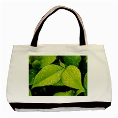 Leaf Green Foliage Green Leaves Basic Tote Bag (two Sides) by Simbadda