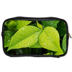 Leaf Green Foliage Green Leaves Toiletries Bags 2 Side