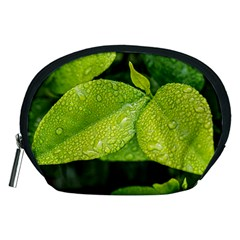 Leaf Green Foliage Green Leaves Accessory Pouches (medium)  by Simbadda
