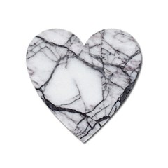 Marble Tiles Rock Stone Statues Heart Magnet by Simbadda