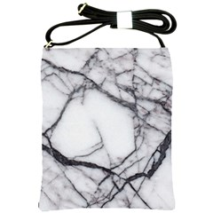 Marble Tiles Rock Stone Statues Shoulder Sling Bags by Simbadda
