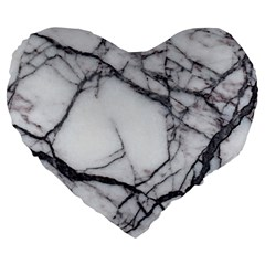 Marble Tiles Rock Stone Statues Large 19  Premium Heart Shape Cushions