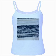 Marble Tiles Rock Stone Statues Pattern Texture Baby Blue Spaghetti Tank