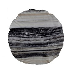 Marble Tiles Rock Stone Statues Pattern Texture Standard 15  Premium Flano Round Cushions