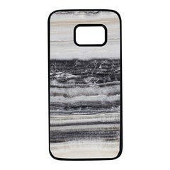 Marble Tiles Rock Stone Statues Pattern Texture Samsung Galaxy S7 Black Seamless Case