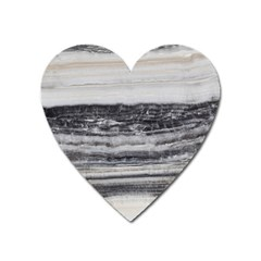 Marble Tiles Rock Stone Statues Pattern Texture Heart Magnet by Simbadda